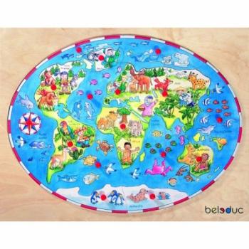 Детская развивающая игра Пазл в рамке «Дети разных стран мира» арт. 17125
