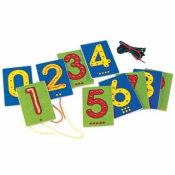 Детская развивающая игра Цифры на шнуровке