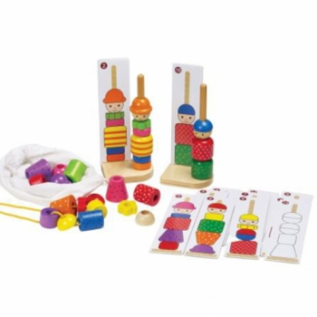 Детская развивающая игра Пирамидка Разноцветные человечки