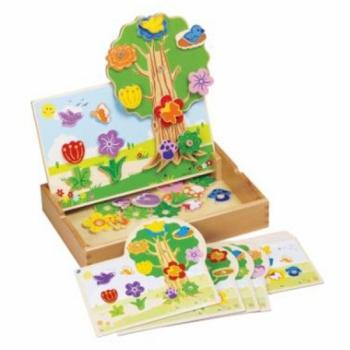 Детская развивающая игра с магнитами Сад