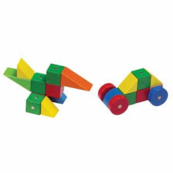 Детская развивающая игра Цветные магнитные блоки