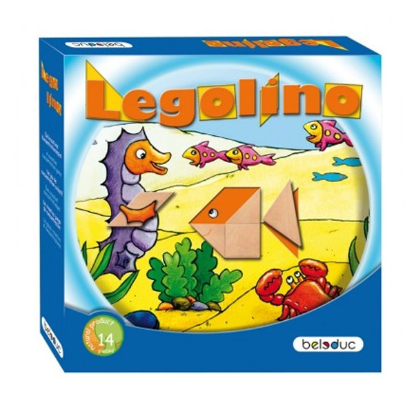 """Детская развивающая игра с геометрическими фигурами """"Леголино""""  арт. 22312"""