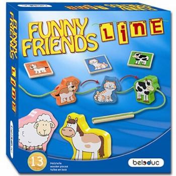 Детская развивающая Игра-шнуровка «Веселые друзья» арт. 22416
