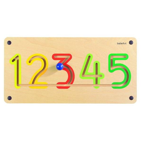 Детская развивающая Настенная игра «Цифры от 1 до 5» арт. 23625
