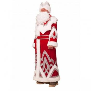 Дед Мороз Вышивка серебро арт 328
