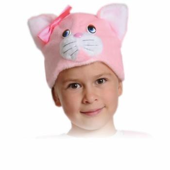 Шапочка Кошечка Розовая К4011