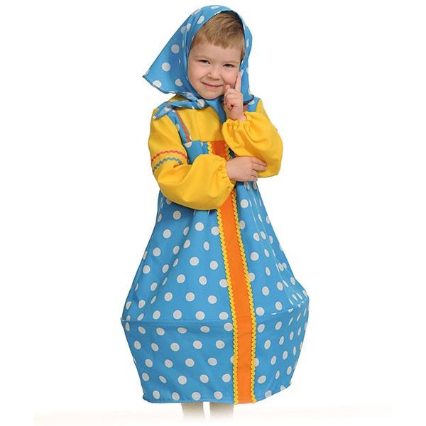 Карнавальный костюм Матрёшка голубая k5101