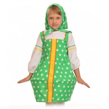 Карнавальный костюм Матрёшка зеленая k5102