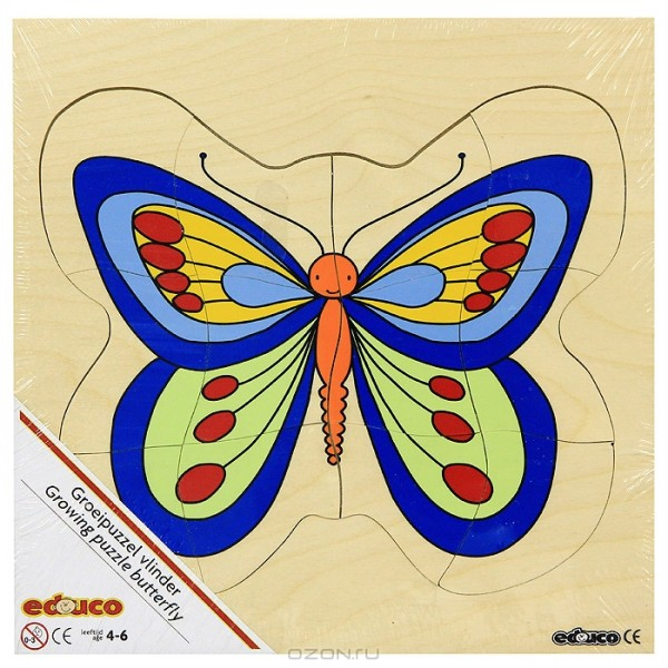 Детская развивающая игра Многослойный пазл «Бабочка» 522014