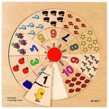 Детская развивающая настольная игра Счетный круг арт. 522053