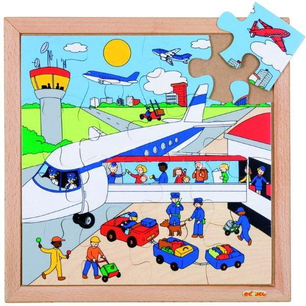 Детская развивающая игра Пазл «Аэропорт», серия «Транспорт» арт. 522067