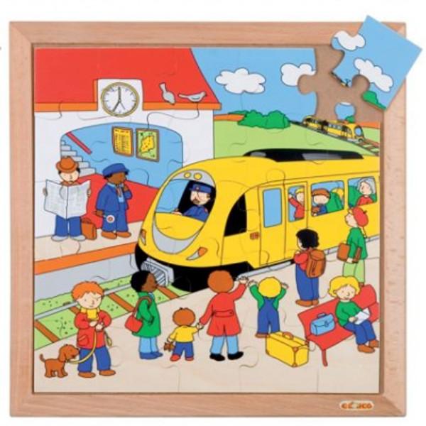 Детская развивающая игра Пазл «Вокзал», серия «Транспорт» арт. 522068