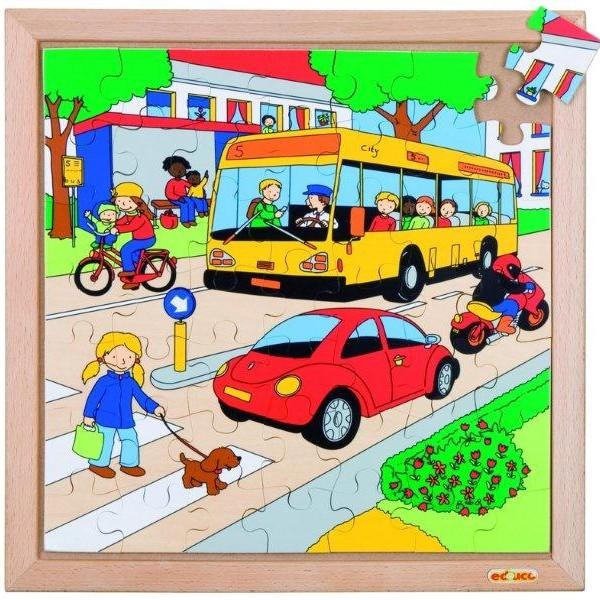 Детская развивающая игра Пазл «Дорога», серия «Транспорт» арт. 522070
