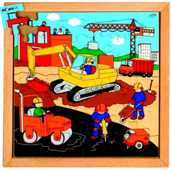 Детская развивающая игра Пазл «Строительная техника» серия «Спецтехника» арт. 522074