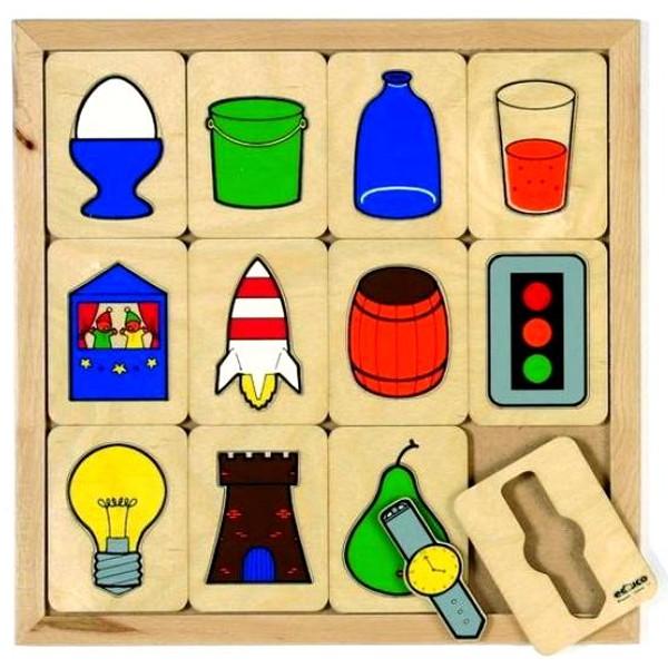 Детская развивающая игра Пазлы-вкладыши «Целые фигуры» арт. 522088