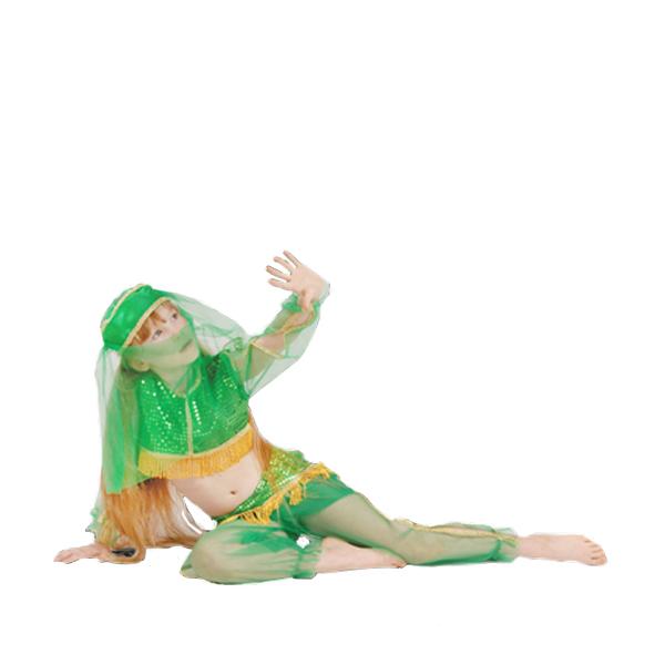 Карнавальный костюм Жасмин зеленая арт.7022-2