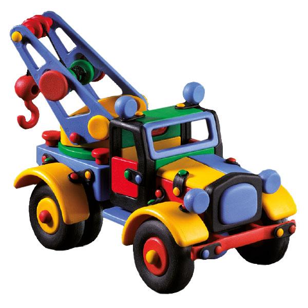 Детский игровой конструктор Машина с подъемным краном