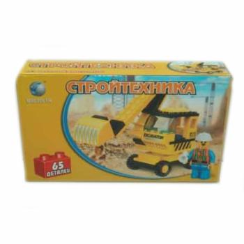 Детский игровой конструктор экскаватор