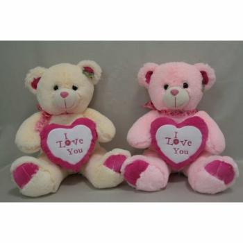 Мягкая игрушка Медведь с сердцем большой розовый арт. 95027