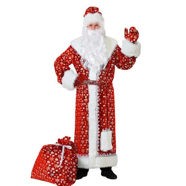Карнавальный костюм Дед Мороз плюш