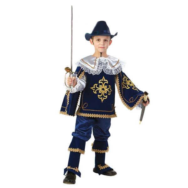 Карнавальный костюм Мушкетер Короля синий