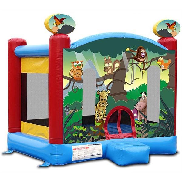 Детский надувной батут Веселые джунгли 1022