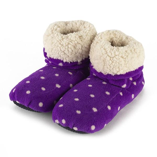 Сапожки для взрослых фиолетовые в горох