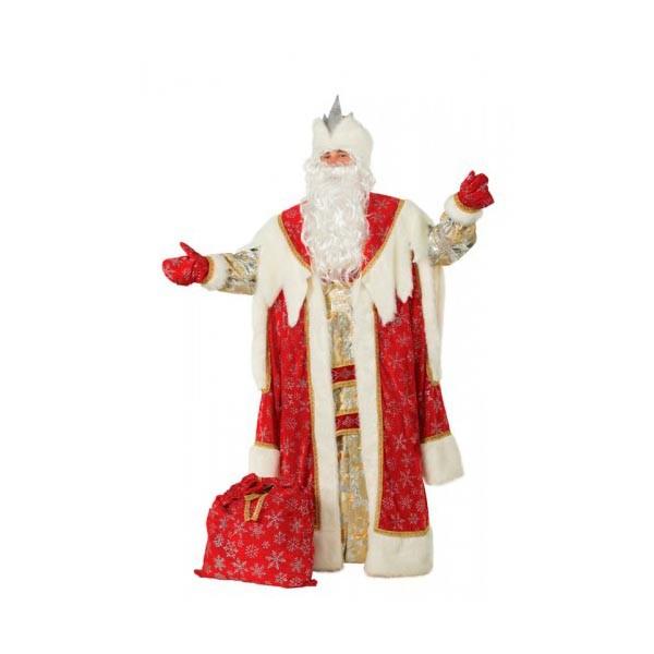 Костюм Деда Мороза королевский красный арт 189