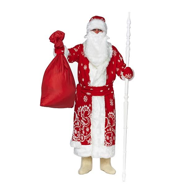 Карнавальный костюм Дед Мороз Традиционный красный