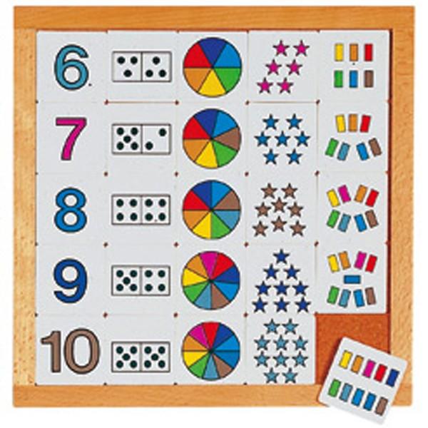 Детская развивающая игра Диаграммы с цифрами от 6 до 10 арт. 522177