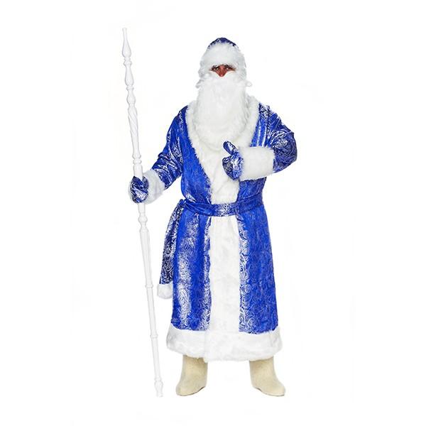 Карнавальный костюм Дед Мороз Сияние синий