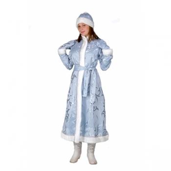 Снегурочка длинная приталенная портьера голубая