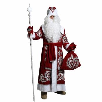 Костюм Деда Мороза Боярский (бархат с вышивкой)