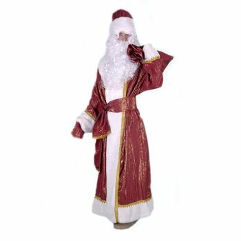Костюм Дед Мороз (парча красная)