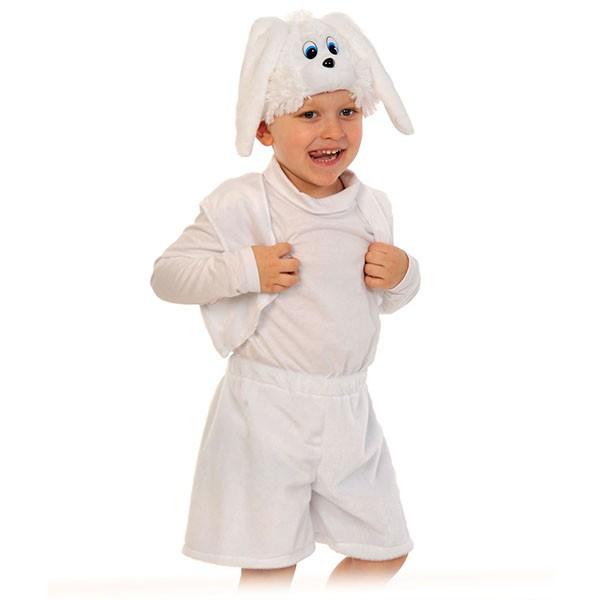Карнавальный костюм Зайчик белый k00-3004