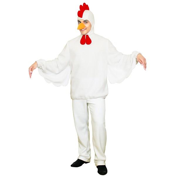Карнавальный костюм Петух белый арт KKVm-87b