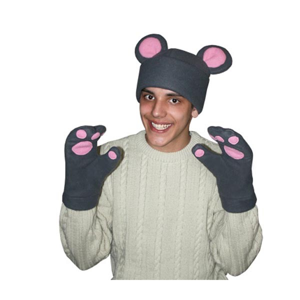 Карнавальная шапка Мышь с рукавицами арт KV-1s