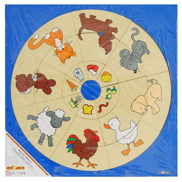 """Детская развивающая игра Логический круг """"Животные"""" арт. 522872"""
