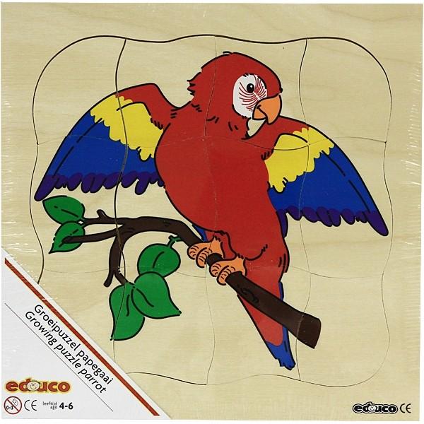Детская развивающая игра Многослойный пазл «Попугай» арт. 522220