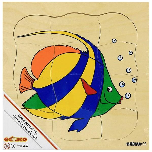 Детская развивающая игра Многослойный пазл «Рыбка» арт. 522218