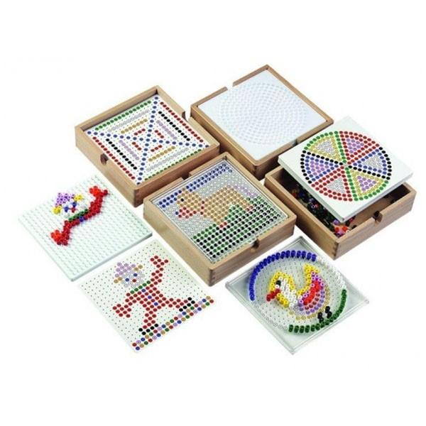 Детская развивающая игра Мозаика «Крало». Набор с прозрачным квадратом арт. 522802