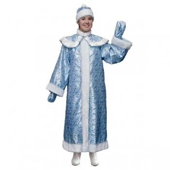 Маскарадный костюм Снегурочки с пелериной парча арт. Н45-ПЧЦ