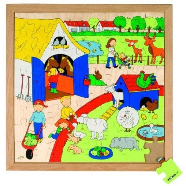 Детская развивающая игра пазл «Дети на ферме» арт. 522615