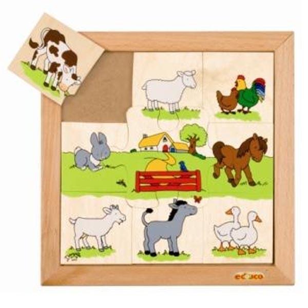 Детская развивающая игра Пазл «Домашние животные» арт. 523092