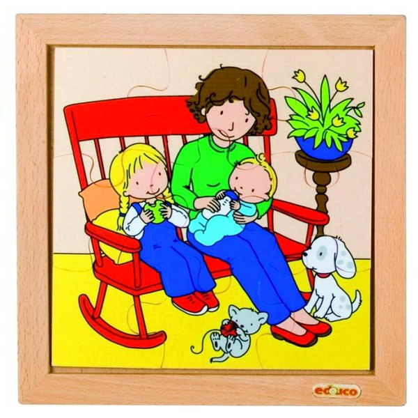 Детская развивающая игра Пазл «Кормление малыша» арт. 522678