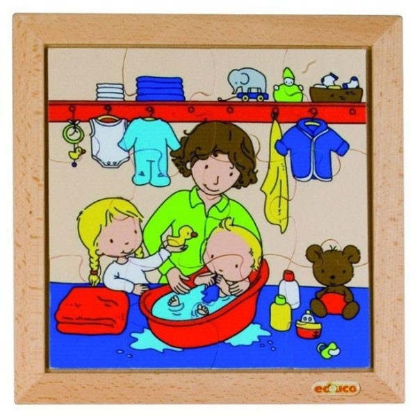 Детская развивающая игра Пазл «Купание малыша» арт. 522677