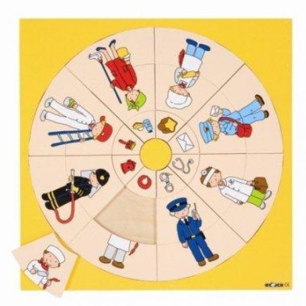 """Детская развивающая игра пазл-вкладыш Логический круг """"Профессии"""" арт. 523039"""