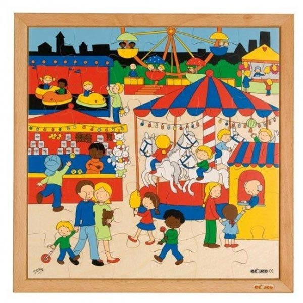 Детская развивающая игра Пазл «Лунапарк» арт. 523051