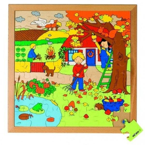Детская развивающая игра пазл «Осень» арт. 522625