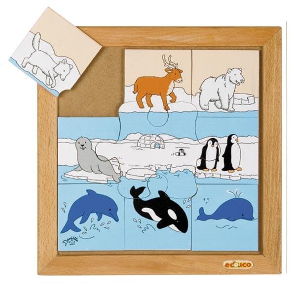 Детская развивающая игра Пазл «Полярные животные» арт. 523091